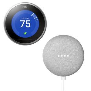 Google Nest Learning Thermostat & Google Home Mini