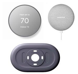 Google Nest Thermostat Charcoal, Trim Kit & FREE Google Home Mini