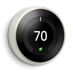 White Google Nest Learning Thermostat