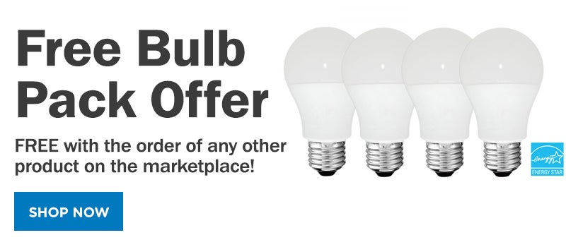 FREE Bulb 4 Pack with the Purchase of any other product. Shop now.