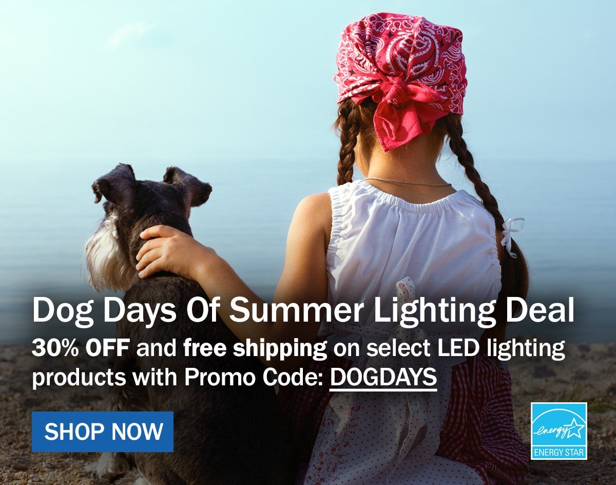 30% OFF and free shipping on select LED Lighting products with promo code: DOGDAYS
