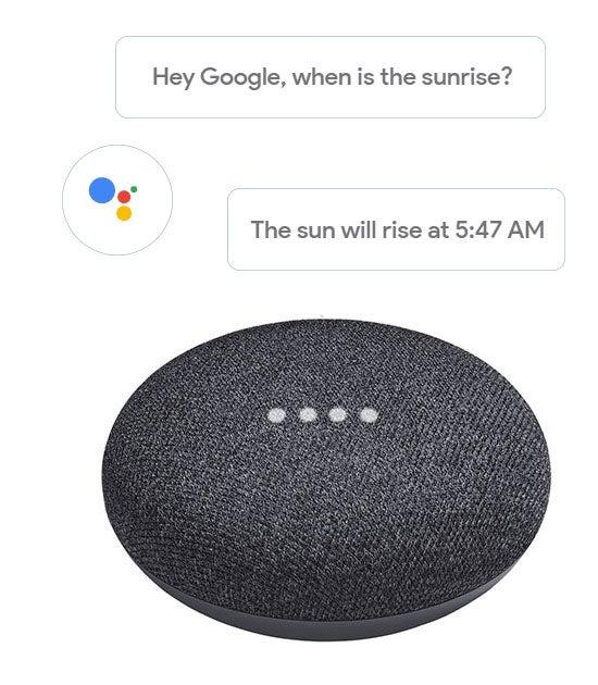 Google Home Mini smart speaker with Google Assistant built in