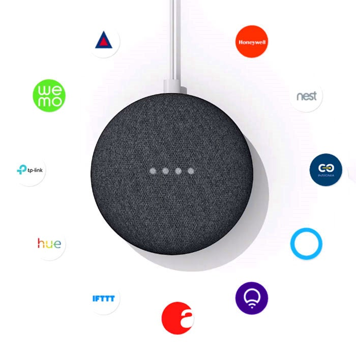 Google Home Mini works with over 5,000 smart home devices so you can control your smart home and entertainment with just your voice