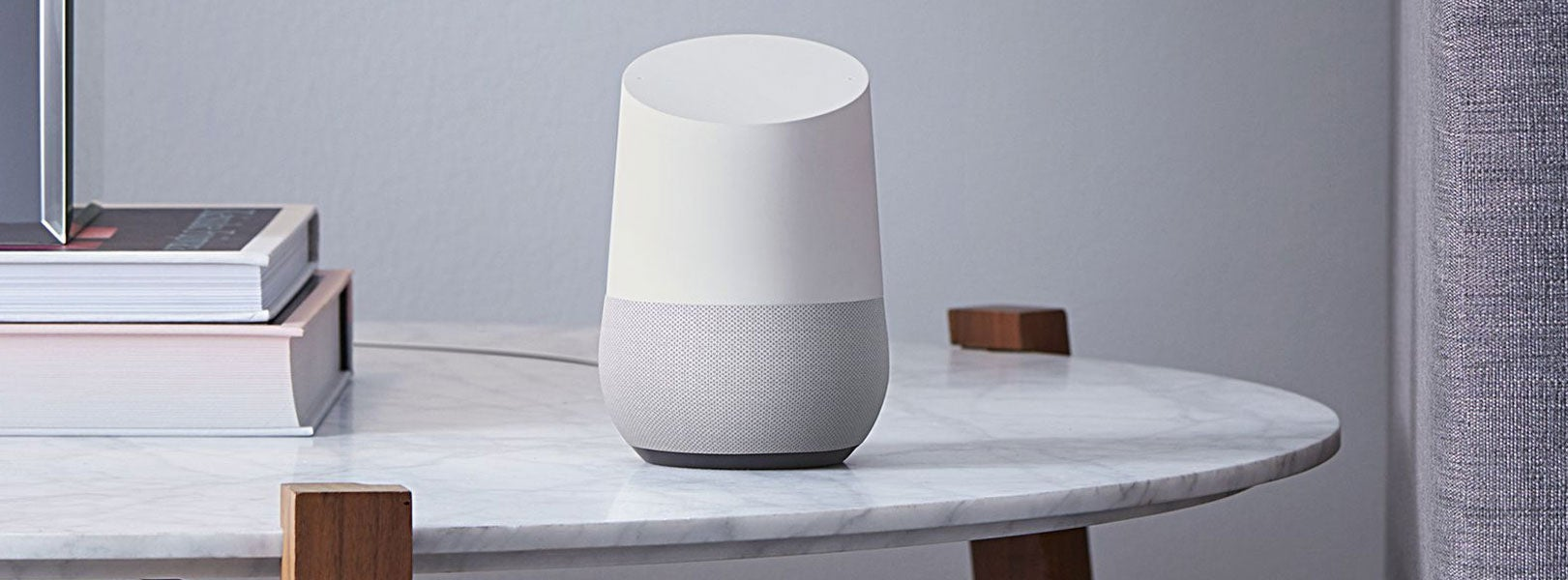 Google Home voice-activated smart speaker