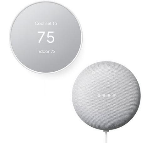 NEW Google Nest Thermostat + FREE Google Home Mini