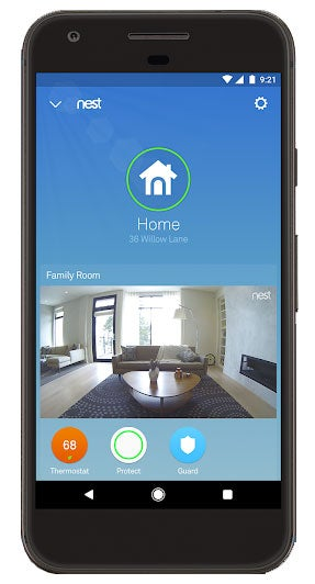 Use indoor Nest Cam and Nest app to monitor the inside of your home from your phone.