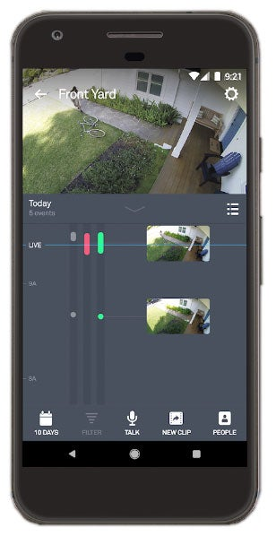 Use Nest Cam outdoor and free Nest app to monitor outside of your home from anywhere