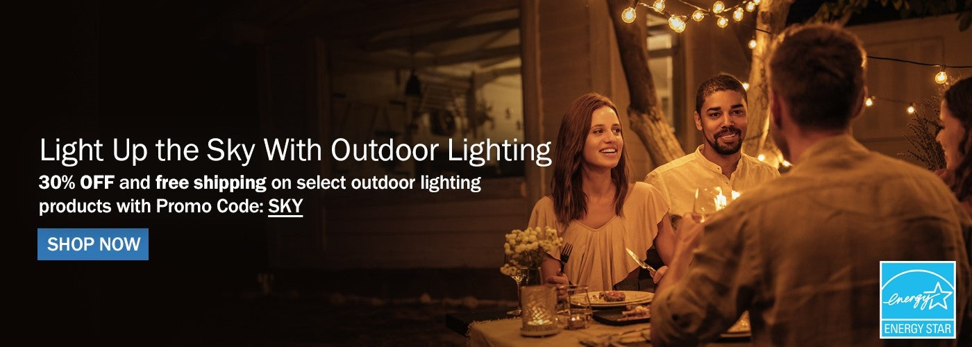 30% OFF select outdoor lighting products with Promo code: SKY
