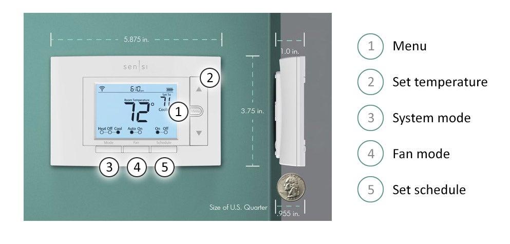 Sensi Smart interface and controls