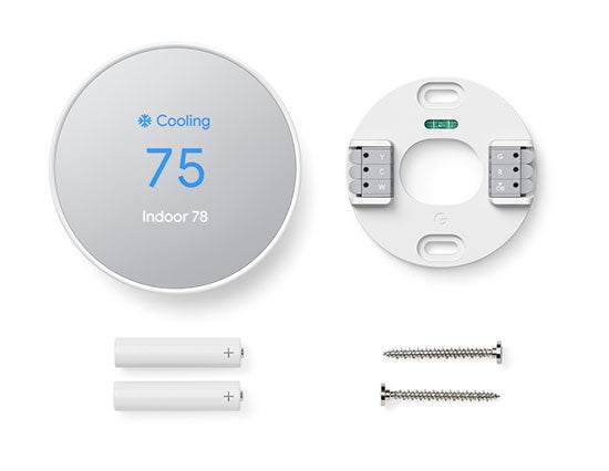 Google Nest Thermostat installation - What's included in box