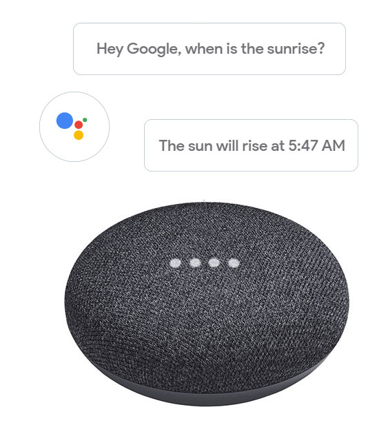 Google Home Mini smart speaker with Google Assistant built in
