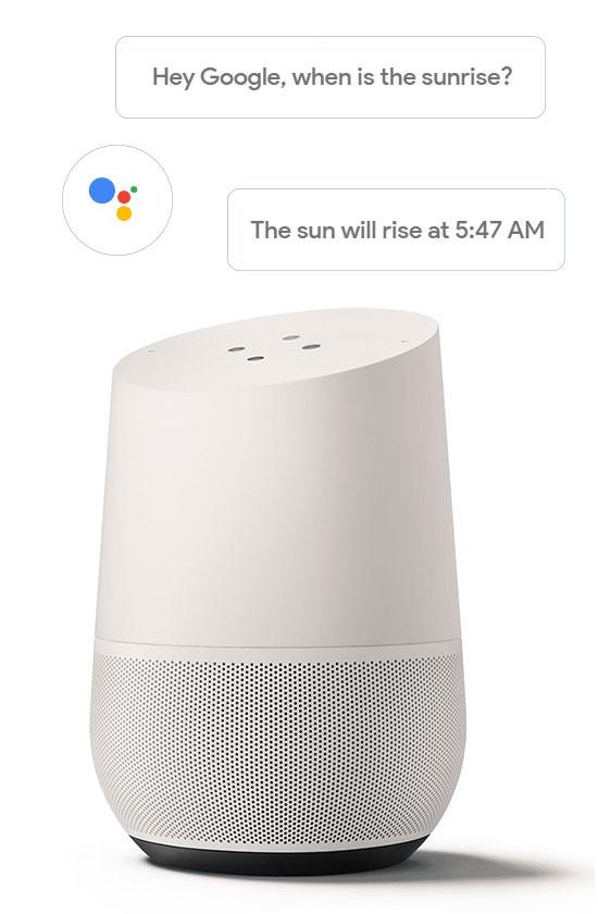 Google Home smart speaker with Google Assistant built in