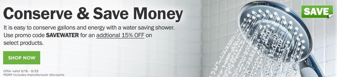 15% off Water Products in September with promo Code SAVEWATER