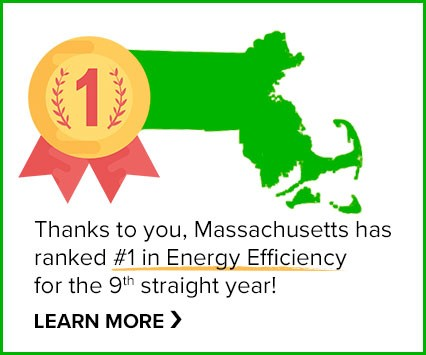 Thanks to you Massachusetts has ranked #1 in energy efficiency, for a 9th straight year!