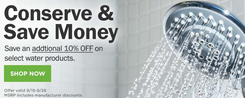 SHOP Water Conservation Products and Save!