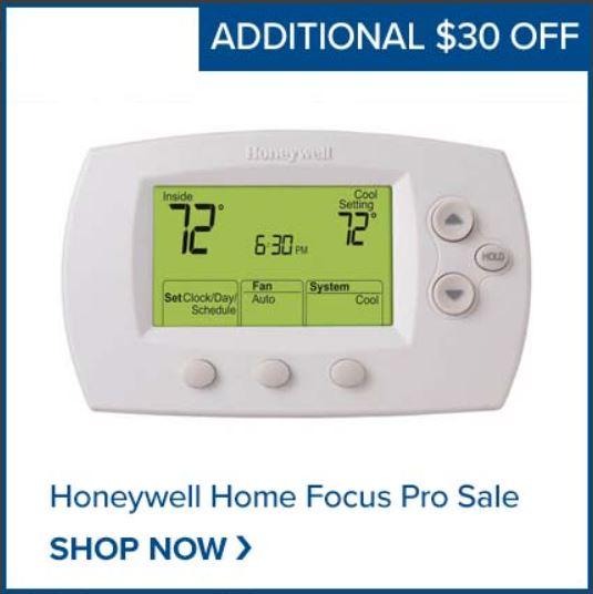 Shop the Honeywell Focus Pro Thermostat NOW
